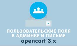 Пользовательские поля в адресе Opencart 3.0