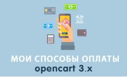 Модуль Мои способы оплаты Opencart 3